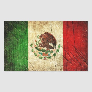 Distressed Country Flags | Mexico Sticker