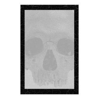 Distressed Cracked Skull Gothic Stationery