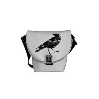 Distressed Crow Bag Courier Bag