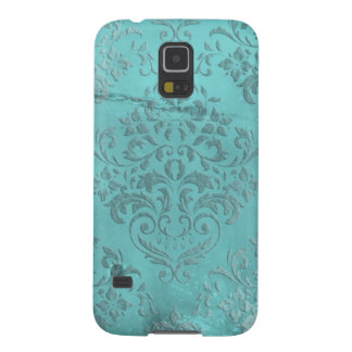 Distressed Damask Aqua Case For Galaxy S5