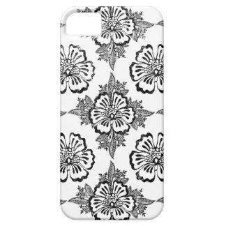 Distressed damask floral hibiscus flower pattern iPhone 5 covers