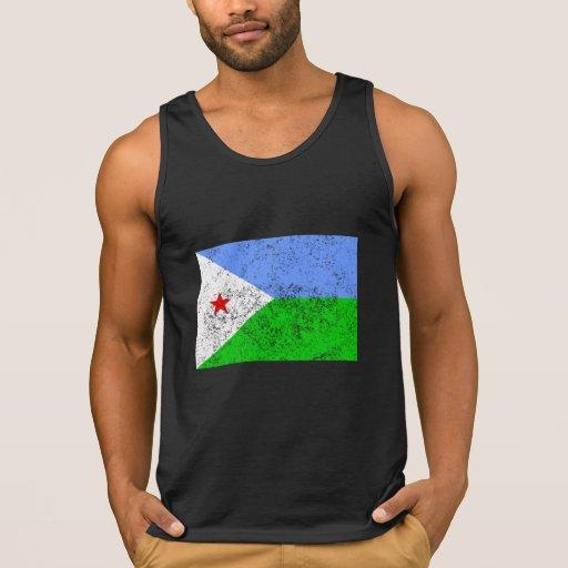 Distressed Djibouti Flag Tanktop