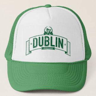 distressed Dublin banner Trucker Hat