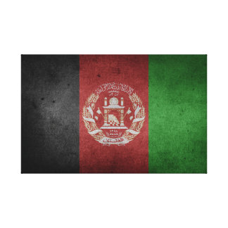 Distressed Flag of Afghanistan Canvas Print