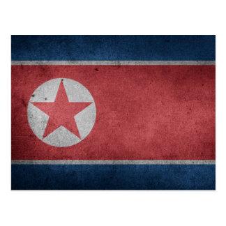 Distressed Flag of North Korea Postcard
