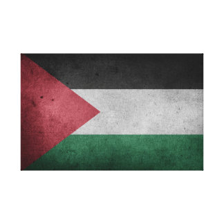 Distressed Flag of Palestine Canvas Print