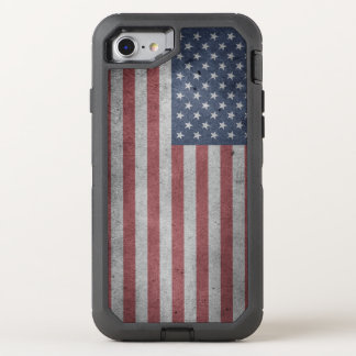 Distressed Flag of the United States OtterBox Defender iPhone 8/7 Case