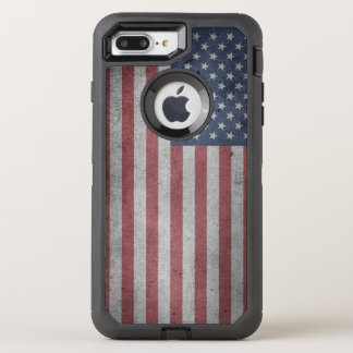 Distressed Flag of the United States OtterBox Defender iPhone 8 Plus/7 Plus Case