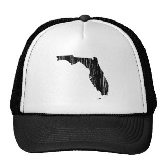 Distressed Florida State Outline Trucker Hat