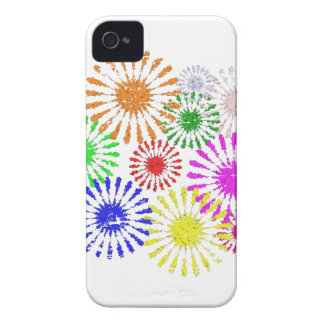 Distressed Flower Burst iPhone 4 Cover