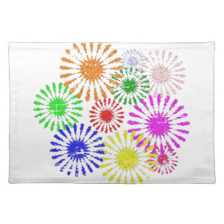 Distressed Flower Burst Placemat