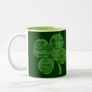 Distressed Four Leaf Clover Coffee Mug