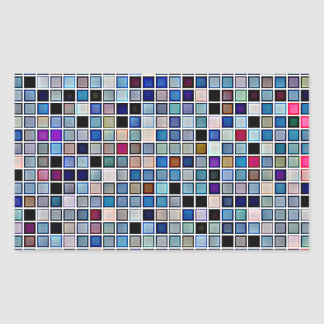 Distressed Funky Blue 'Bathroom Tiles' Pattern Sticker