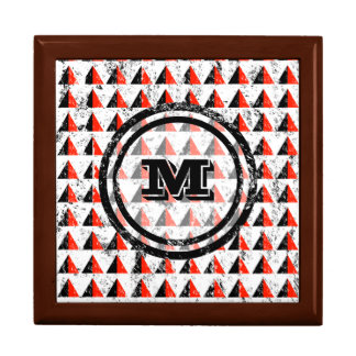 Distressed Geometric Monogram Gift Box