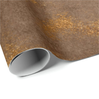 Distressed Gold Brown Maroon Rust Wrap Wrapping Paper