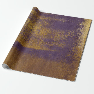 Distressed Gold Plum Purple Wrap