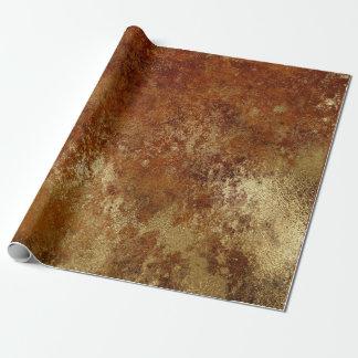 Distressed Gold Red Orange Rust Wrap