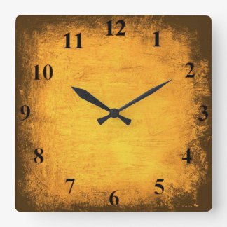 Distressed Gold Wall Clock