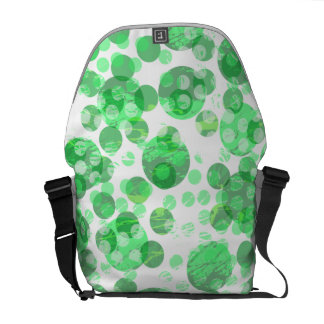 Distressed Green Spot Pattern Commuter Bag