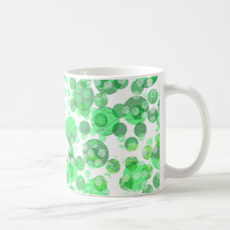 Distressed Green Spots Coffee Mug