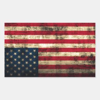 Distressed Grunge American Flag Sticker