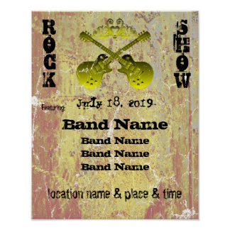 Distressed Grunge Rock Show Customizable Poster