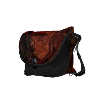 Distressed Grunge Rust Black Brown Messenger Bag