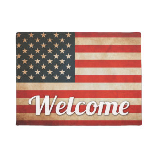 Distressed Grunge USA American Flag Doormat