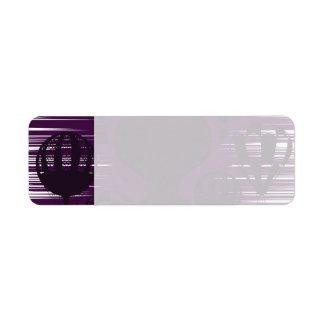 Distressed Grunge Vintage Hot Air Balloons Purple Return Address Label