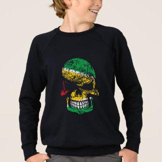 Distressed Guyanese Flag Skull Sweatshirt