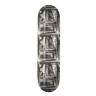 Distressed-Hand Painted Abstract Brushstrokes Skate Boards
