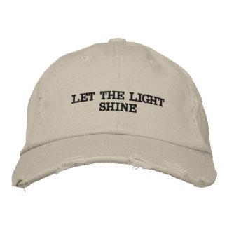 Distressed hat. embroidered hat