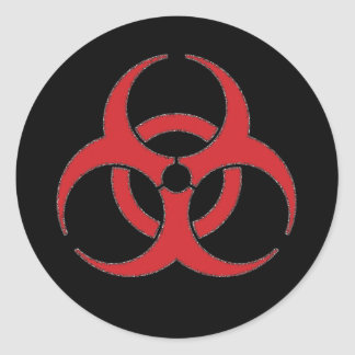 Distressed Hazard Symbol Stickers