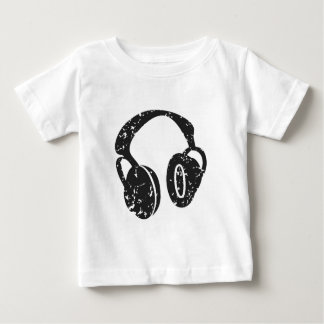 Distressed Headphones Baby T-Shirt