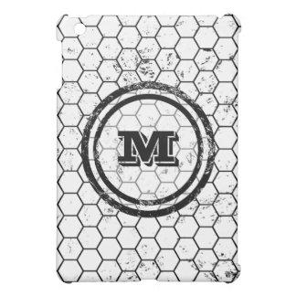 Distressed Honeycomb Monogram Pattern iPad Mini Case