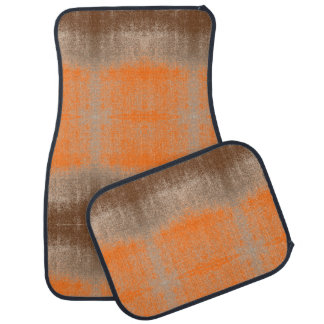 Distressed Hunters Orange Rustic Aged Boat Paint Car Mat