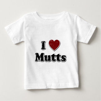 Distressed I Heart Mutts Design Baby T-Shirt