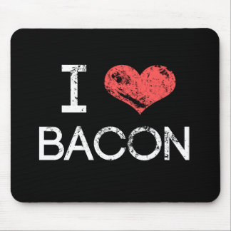 """Distressed """"I Love Bacon"""" Mouse Pad"""