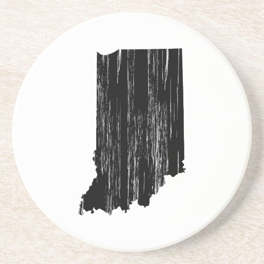Distressed Indiana State Outline Coaster