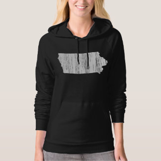 Distressed Iowa State Outline Hoodie