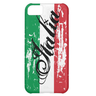 Distressed Italian flag iPhone case | Grunge look