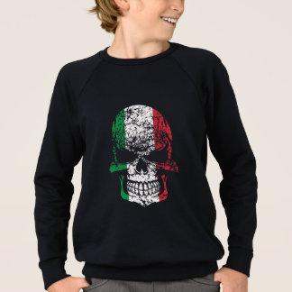 Distressed Italian Flag Skull Sweatshirt