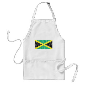 Distressed Jamaican Flag Standard Apron