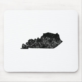 Distressed Kentucky Silhouette Mouse Pads