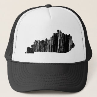 Distressed Kentucky State Outline Trucker Hat