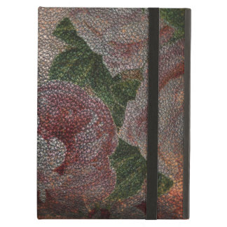 Distressed Leather | Vintage Victorian Pink Roses Cover For iPad Air