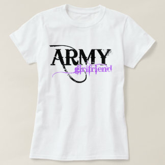 Distressed Lettering Army Girlfriend T-Shirt