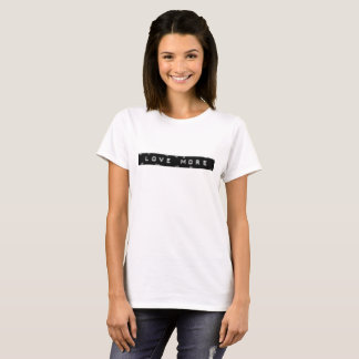 Distressed look 'love more' tshirt