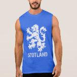 Distressed Look Scottish Rampant Lion Sleeveless Tees