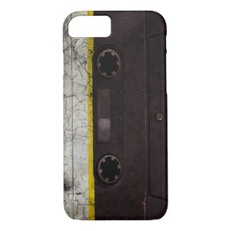 Distressed look vintage cassette iphone 7 case
